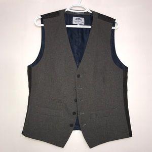 Taylor & Wright Dark Grey Navy Sleeveless Vest
